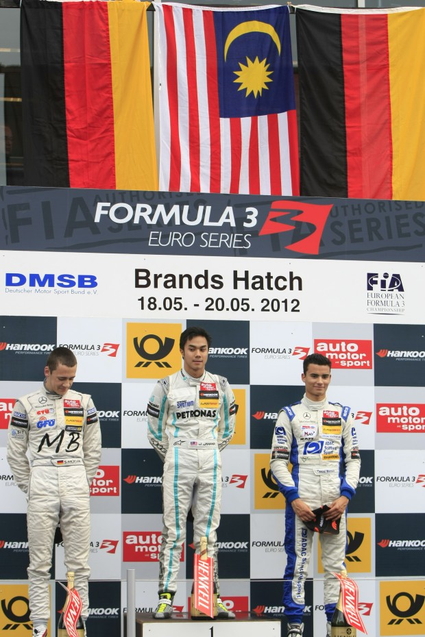 Jazeman on the top step of the podium at Brands Hatch