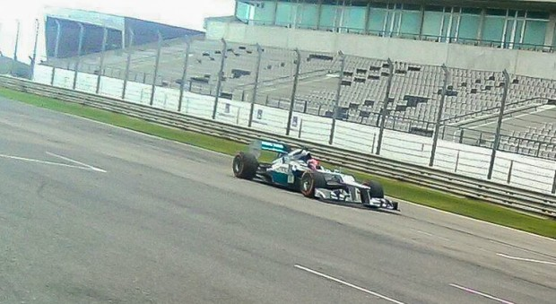 Jazeman driving the 2012 MERCEDES AMG PETRONAS F1 car
